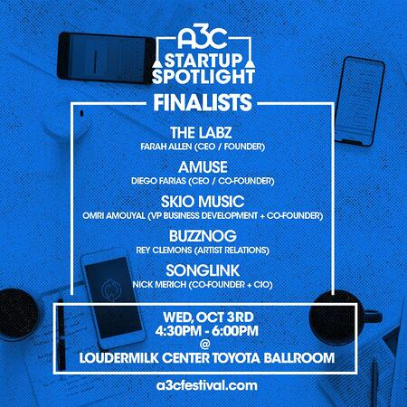 Startup Spotlight - 5 Finalists - Oct 3rd
