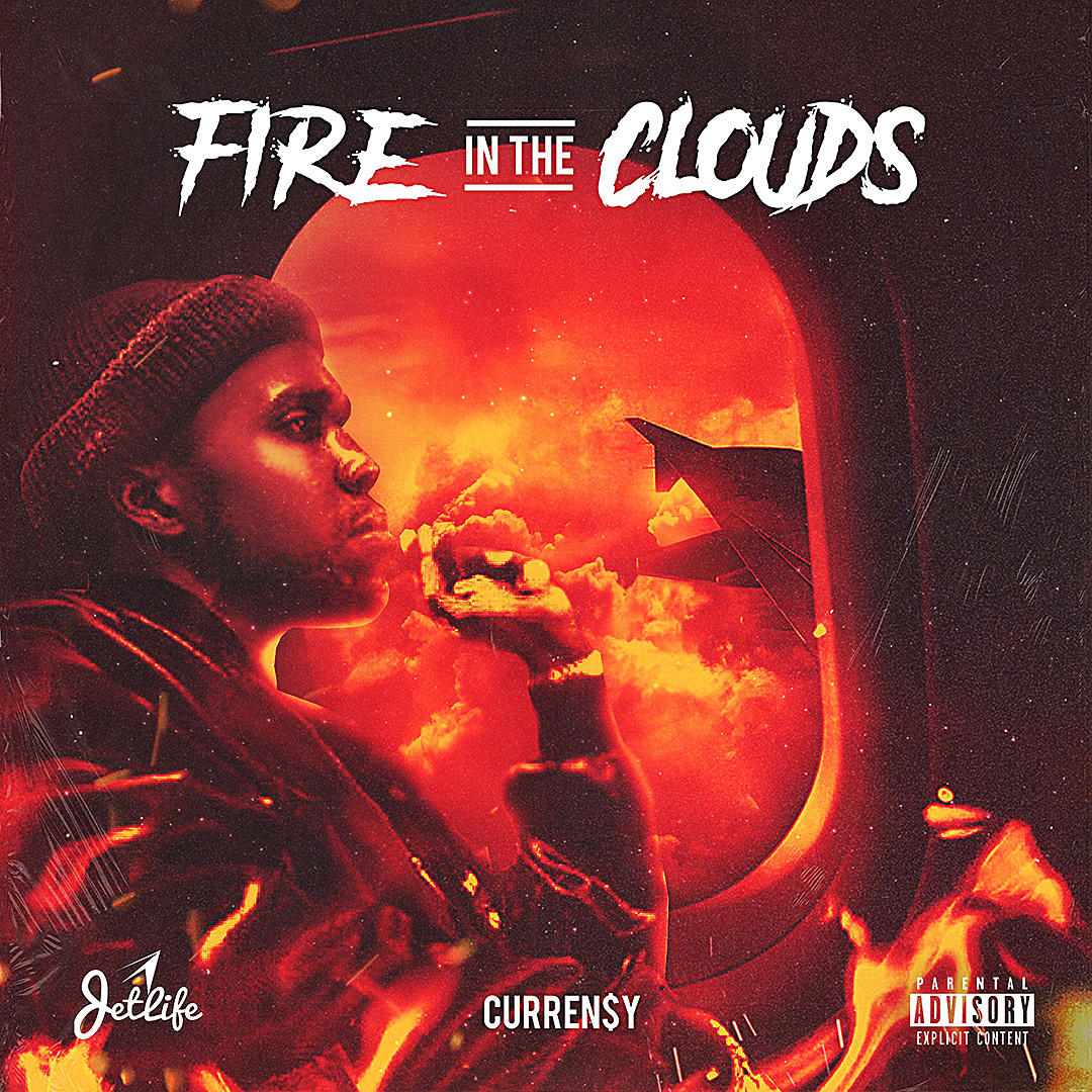 Currensy Fire in the Clouds Album Cover